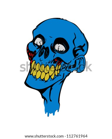Zombie face,halloween - stock vector