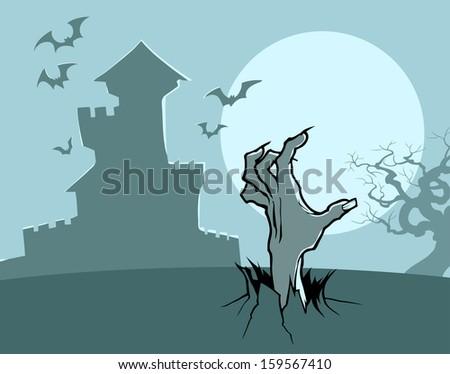 Zombie hand  - stock vector