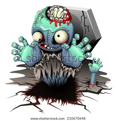 Zombie Monster Cartoon Doll - stock vector