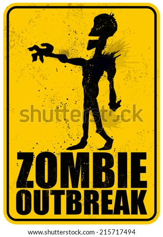 Zombie Outbreak - stock vector