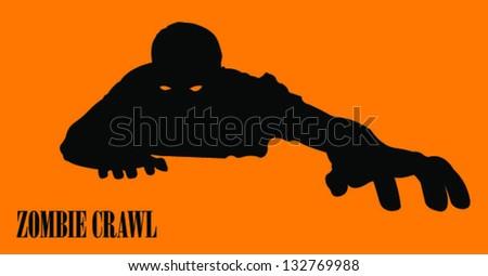 Zombie Silhouette/Vector - stock vector