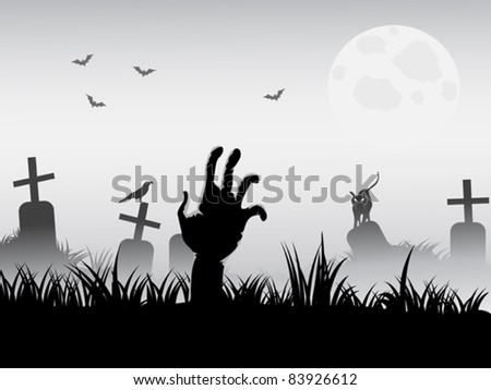 zombie waking - stock vector