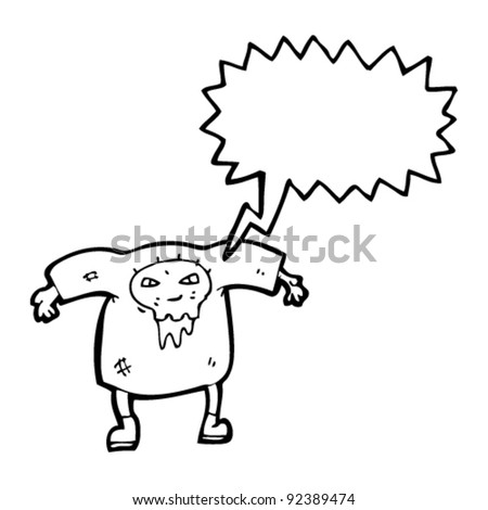 zombie with speech bubble cartoon