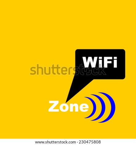 zone Wifi, vector - stock vector