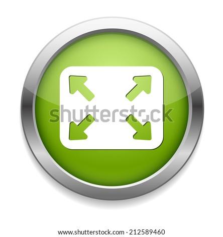 zoom button - stock vector