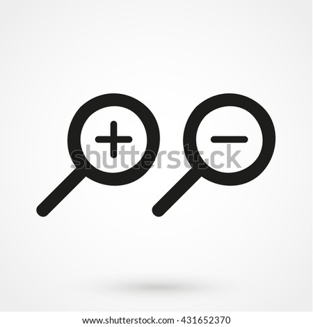 Zoom Icon isolated on background. Modern flat pictogram, business, marketing, internet concept. Trendy Simple vector symbol for web site design or button to mobile app. Logo illustration - stock vector