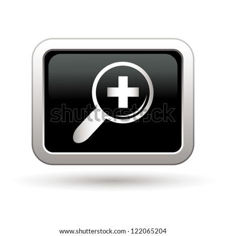 Zoom icon. Vector illustration - stock vector