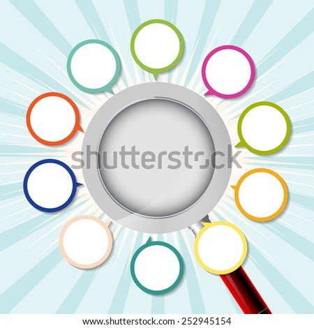 Zoom icons. Search symbols. Magnifier Glass signs. Vector illustration.