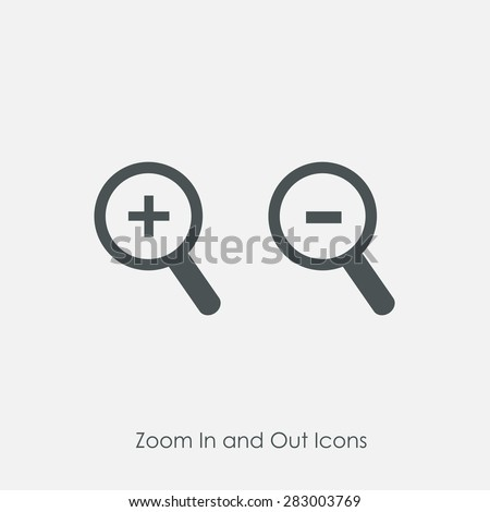 Zoom Zoom Out Icons Simple Zoom Stock Vector 283003769 - Shutterstock