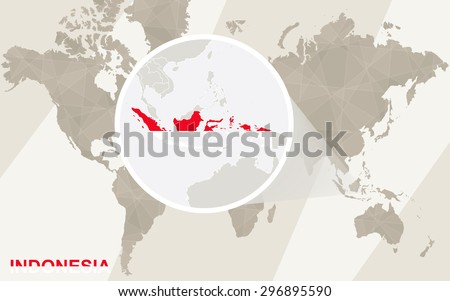 Zoom on indonesia map flag world stock vector 296895590 shutterstock zoom on indonesia map and flag world map gumiabroncs Gallery