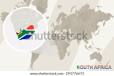 Zoom on south africa map flag stock vector 293776673 shutterstock zoom on south africa map and flag world map gumiabroncs Gallery