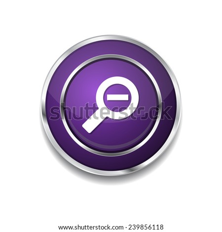 Zoom Out Purple Vector Icon Button - stock vector