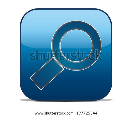 zoom with square button - stock vector