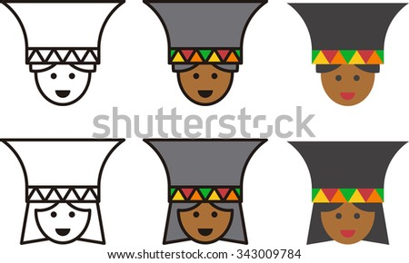ZULU man and woman icons - stock vector